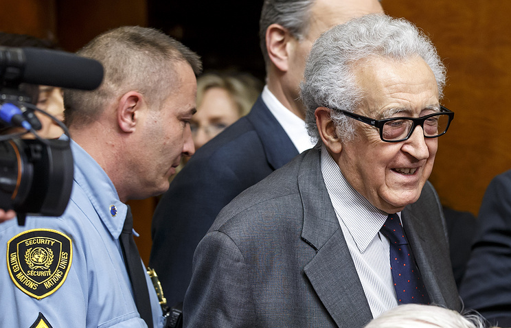 UN and Arab League Special Envoy to Syria, Lakhdar Brahimi