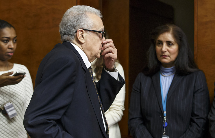 UN-Arab League envoy for Syria Lakhdar Brahimi