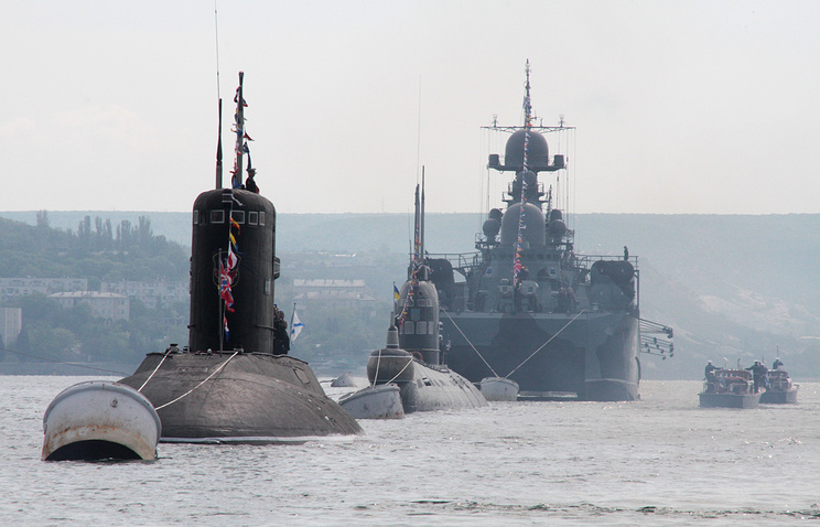 Warships are involved in a military parade in Sevastopol to mark the 230th anniversary of the Russian Black Sea Fleet (archive)