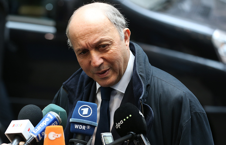 French Minister of Foreign Affairs Laurent Fabius