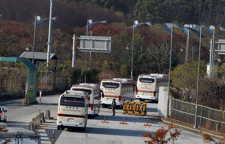 Border crossing between South and North Korea (archive)