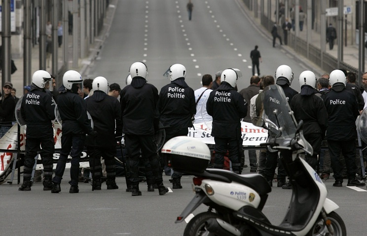 Police in Brussels (archive)