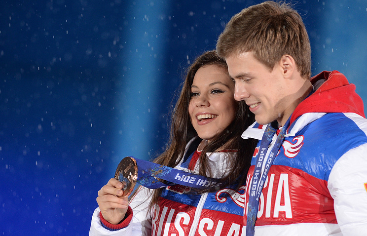 Yelena Ilyinykh and Nikita Katsalapov at the Olympics in Sochi