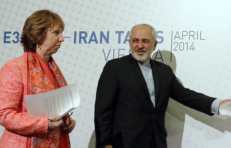 European foreign policy chief Catherine Ashton and Iranian Foreign Minister Mohamad Javad Zarif