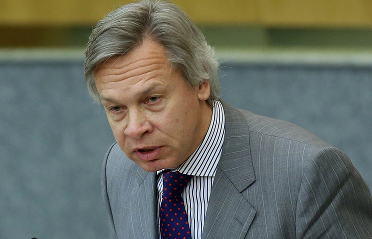 Chairman of the State Duma lower house committee for international affairs Alexei Pushkov