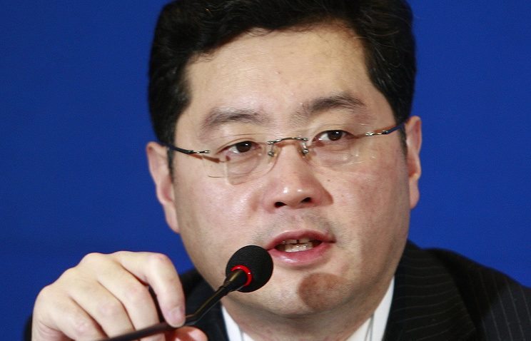 Official spokesman for the Chinese Foreign Ministry Qin Gang (archive)