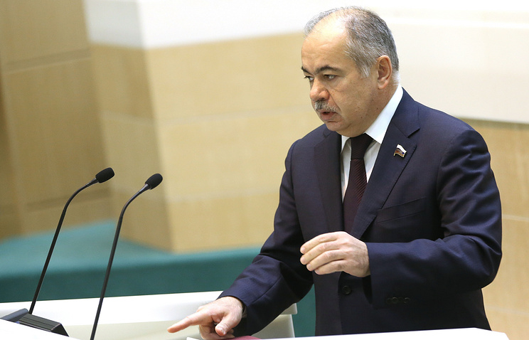 Vice speaker of the Federation Council upper house of Russian parliament Ilyas Umakhanov