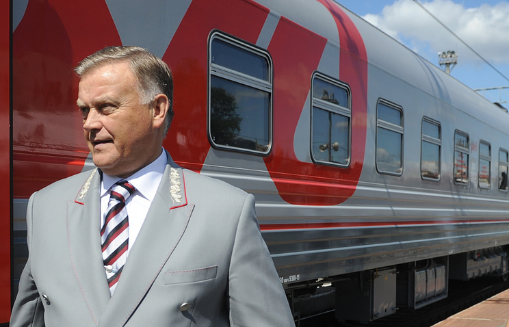 Russian Railways CEO Vladimir Yakunin