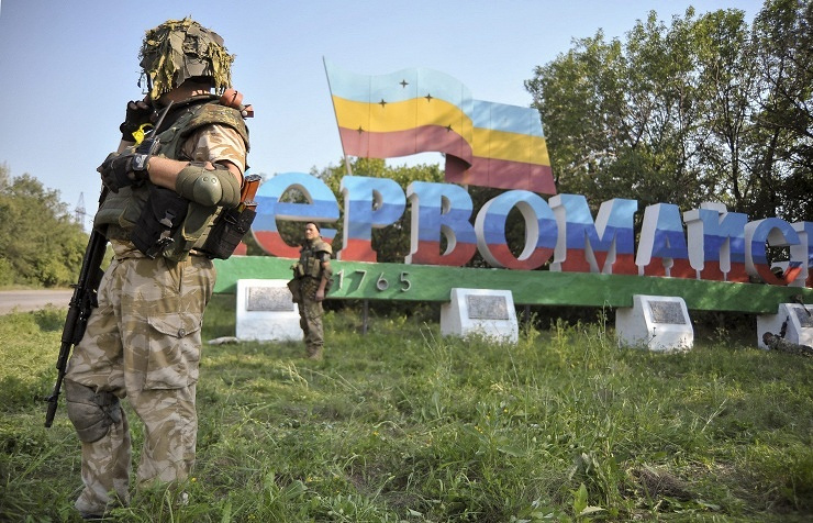 Soldier from the Donbass batallion