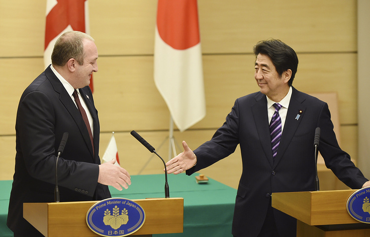 Shinzo Abe and Georgy Margvelashvili