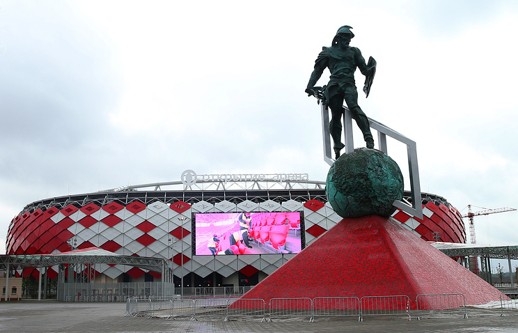 Otkritie-Arena, one of 12 Russian stadiums selected to host the World Cup 2018
