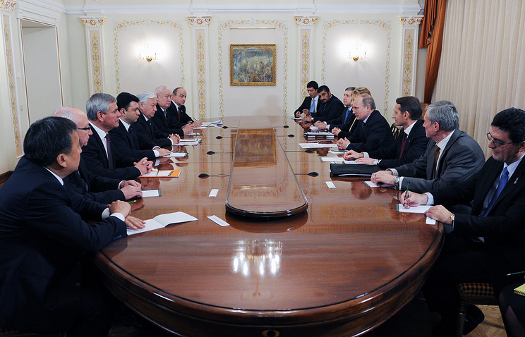 Russian President Vladimir Putin's meeting with members of the CSTO assembly's Council