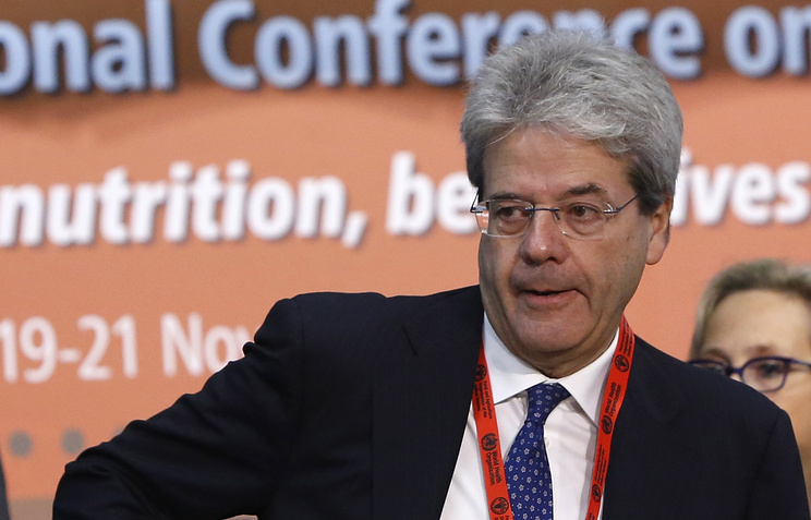 Italy's Foreign Minister Paolo Gentiloni