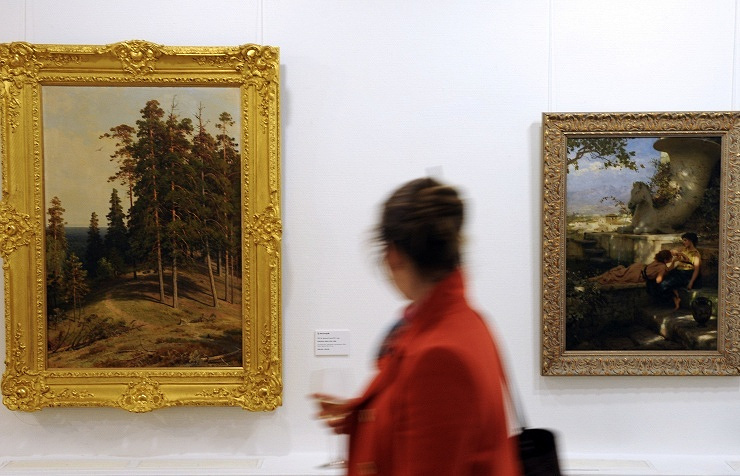 Paintings by Ivan Shishkin and Henryk Siemiradzki