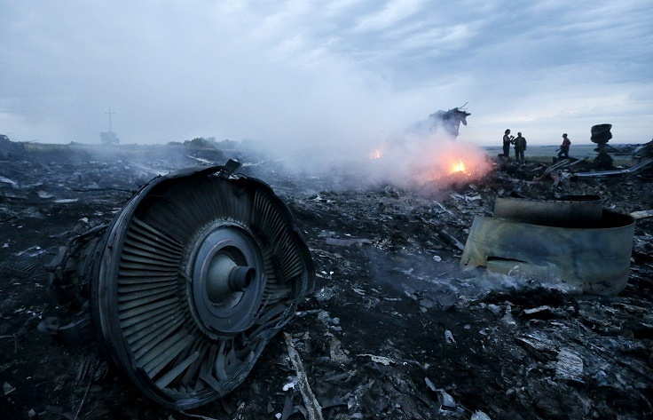 Flight MH17 crash site in east Ukraine's Donetsk