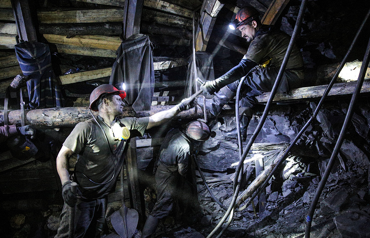 Donbass coal miners