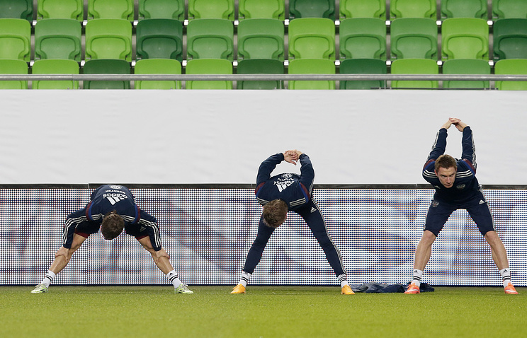 Russian national football team practice