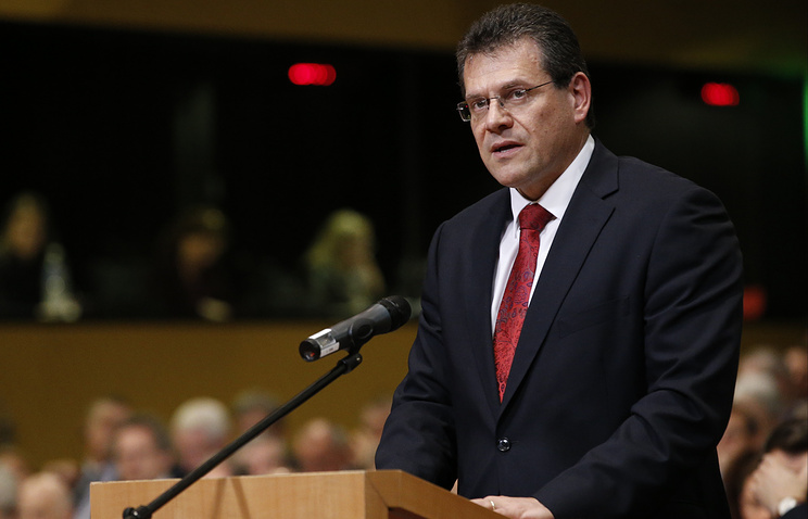 EU Commissioner for Energy Maros Sefcovic