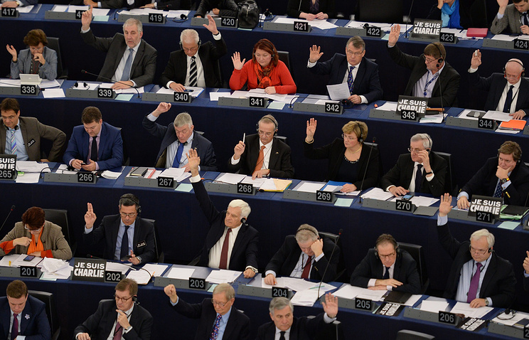 Plenary session in the European Parliament