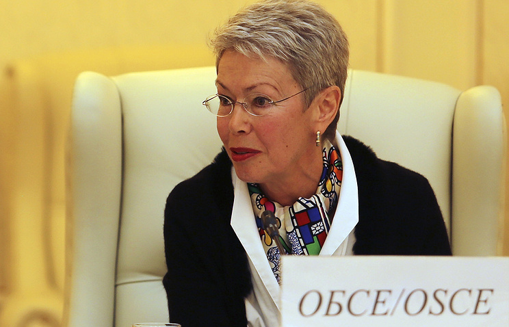 Special representative of the OSCE chairperson-in-office to the Trilateral Contact Group, Heidi Tagliavini