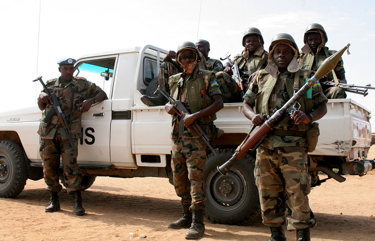 United Nations peacekeeping troops in North Darfur, Sudan