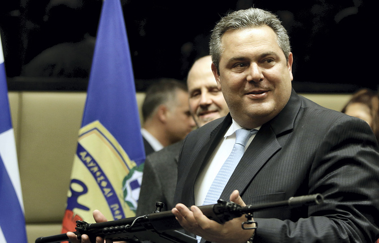 Greek Defense Minister Panos Kammenos