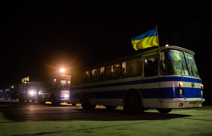 Prisoner exchange in eastern ukraine in late December
