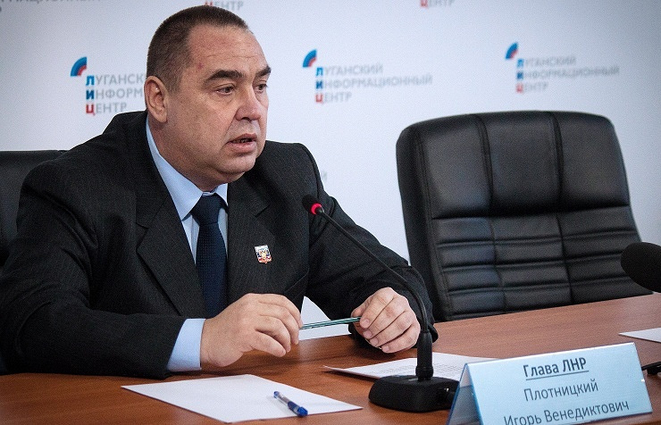Self-proclaimed Luhansk People's Republic leader Igor Plotnitsky