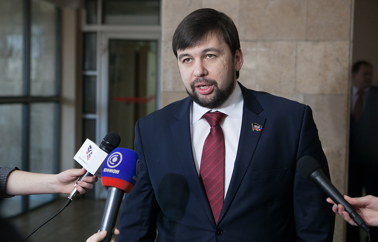 Envoy of self-proclaimed Donetsk People's Republic Denis Pushilin