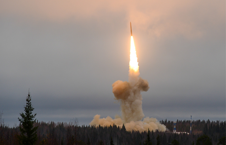 A ballistic missile is launched in Russia (archive)