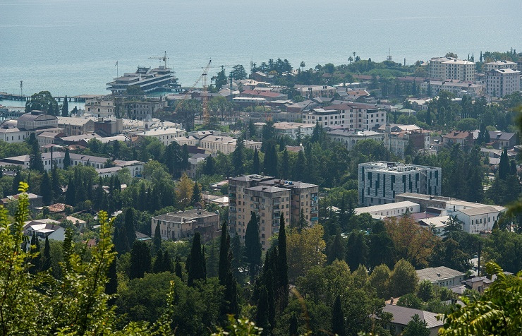 View of Sukhum, the capital of Abkhazia
