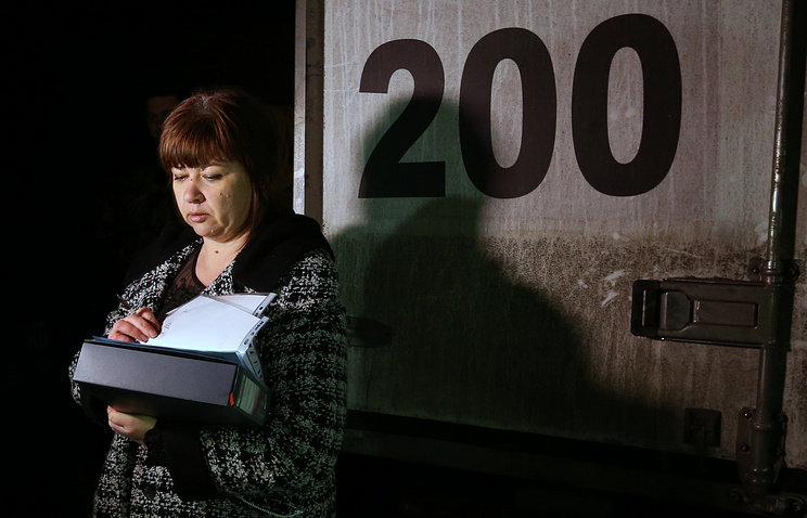 Liliya Rodionova, a member of the DPR defense ministry's commission for prisoners of war during the handover