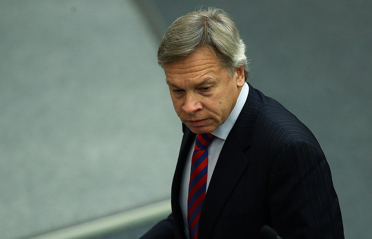 Russian State Duma International Affairs Committee chairman Alexey Pushkov