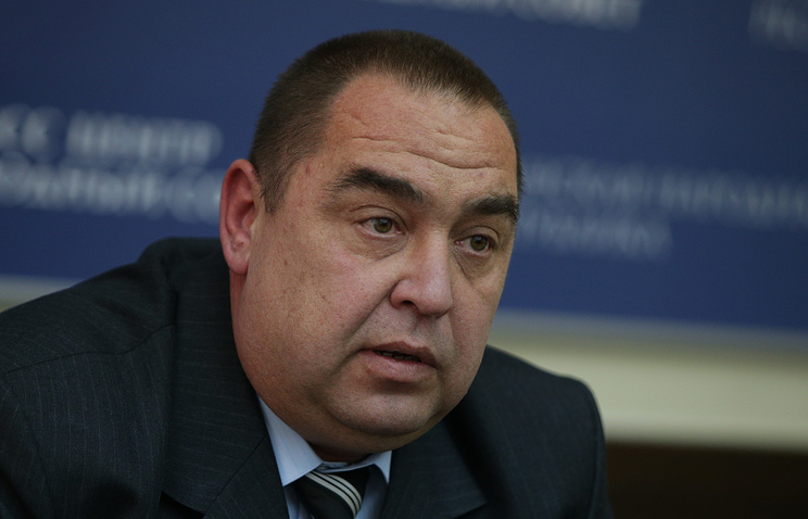 Head of east Ukraine's self-proclaimed Luhansk People's Republic Igor Plotnitsky