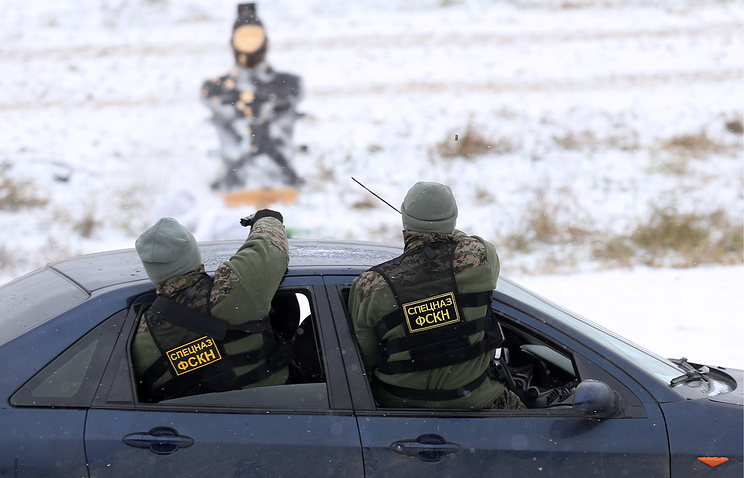 Russia's Federal Drug Control Service operatives during exercise