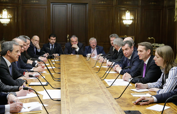 A meeting of Russian and French lawmakers