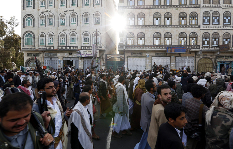 Houthi supporters in Sana'a, Yemen (archive)