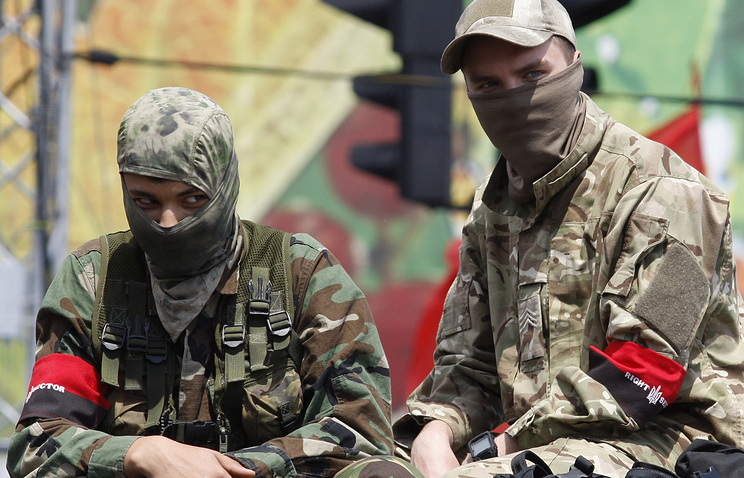 Ukrainian Right Sector activists seen in Kiev (archive)