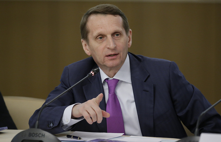 Chairman of the lower house of the Russian parliament Sergey Naryshkin