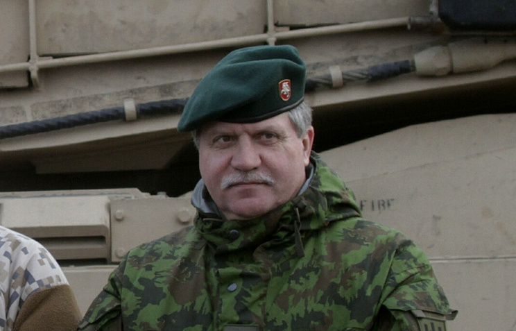 Lithuanian Army Commander Major-General Jonas Vytautas Zukas