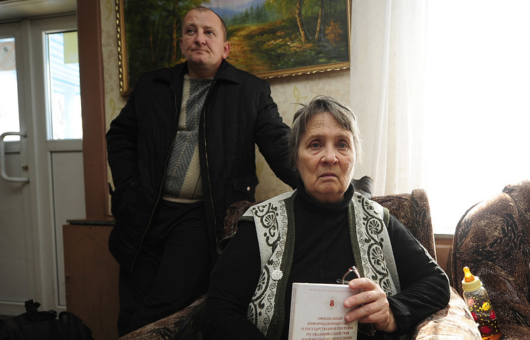 Refugees from eastern Ukraine