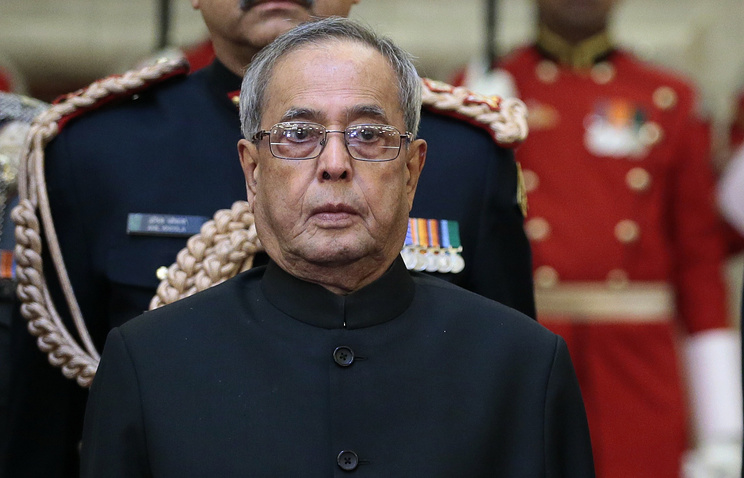 Indian President Pranab Mukherjee