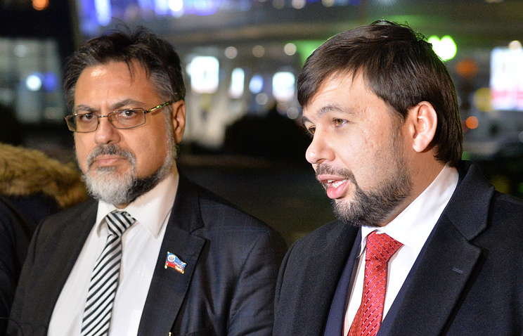Vladislav Deinego and Denis Pushilin, plenipotentiary representatives of the Donetsk and Luhansk republics