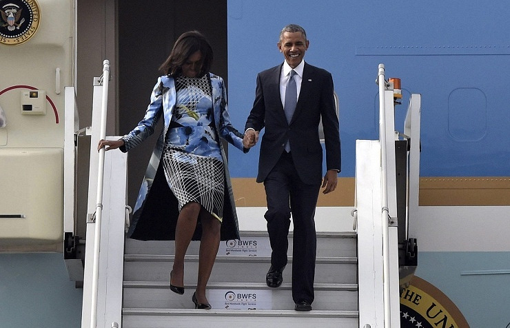 Barack Obama and his wife Michelle