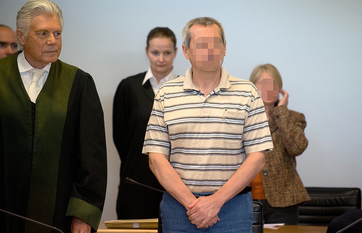 Heidrun and Andreas Anschlag seen in court, July 2013