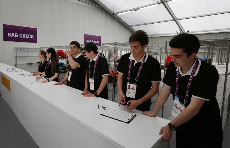 Volunteers at European Games in Baku