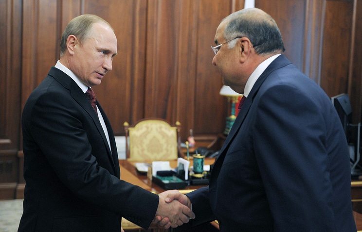 Vladimir Putin and Alisher Usmanov