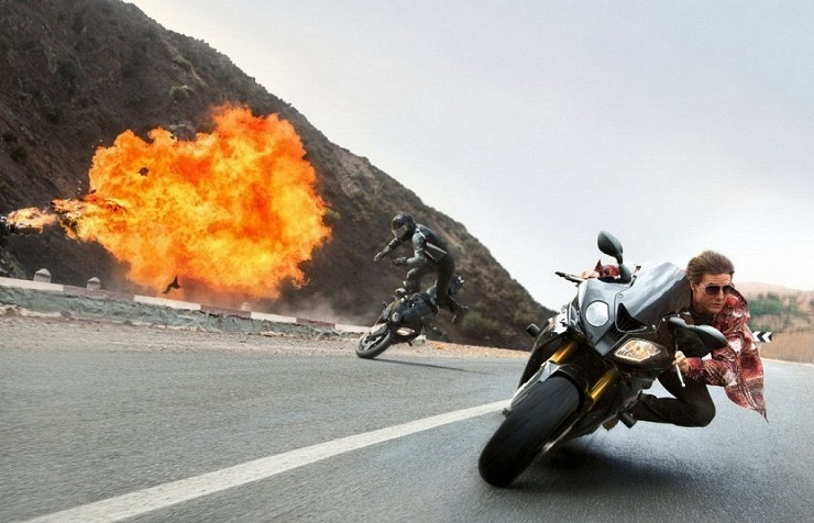 Tom Cruise in Mission: Impossible — Rogue Nation