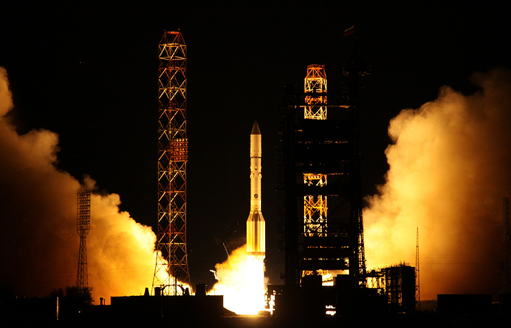 Proton carrier rocket launch (archive)