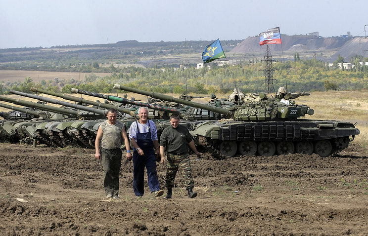 Militia fighters in east Ukraine, Sep. 21